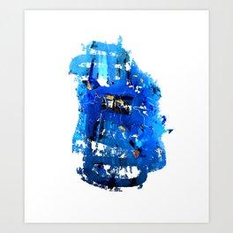 Blue Emotion Art Print