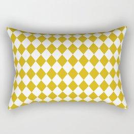 Antique Moss Gold Modern Diamond Pattern Rectangular Pillow