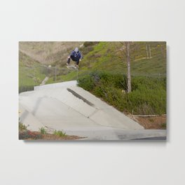 Greg Lutzka | Skateboard Photo | Frontside Flip Metal Print