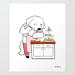 Great Pyranees Baker (Dogs with Jobs series) Art Print