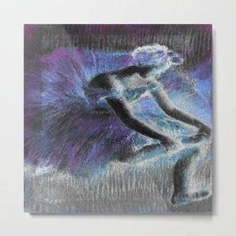 The Dancer by Degas Periwinkle Blue Lavender Metal Print