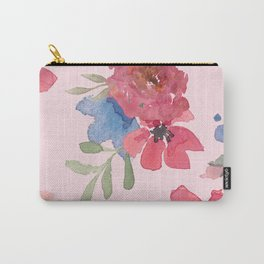 Pink Oleander Floral Carry-All Pouch