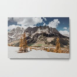 The Wall - Mount Hochkönig Metal Print