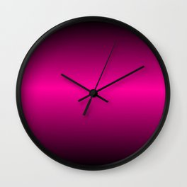 Pink and Black Gradient Colors Wall Clock