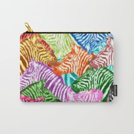 COLORFUL ZEBRAS Carry-All Pouch