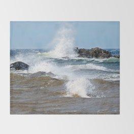 Surf's Spray Throw Blanket