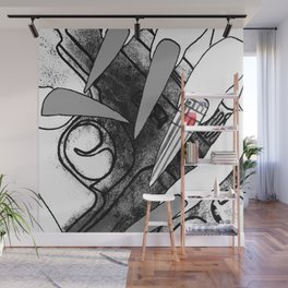 Straw Purchase Illustration Wall Mural