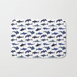 Blue Sharks Bath Mat
