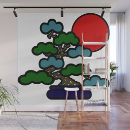 Sunrise Bonsai Wall Mural