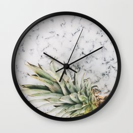PINEAPPLE - MARBLE - PHOTOGRAPHY Wall Clock