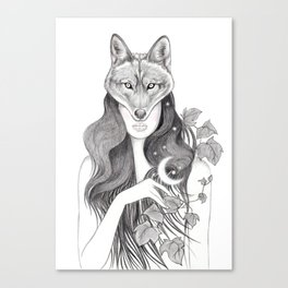 Wolf Woman Canvas Print