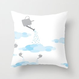 making couds Throw Pillow