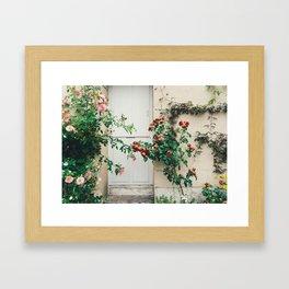 Roses in Giverny, France Monet's Garden Framed Art Print