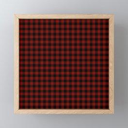 Vintage New England Shaker Barn Red Buffalo Check Plaid Framed Mini Art Print
