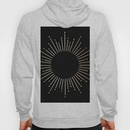 Sunburst Gold Copper Bronze on Black Hoody