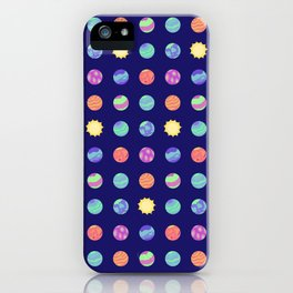 Outer Space - Polka Dot Planets iPhone Case