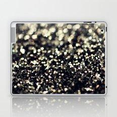 Black and Silver Glitter Laptop & iPad Skin