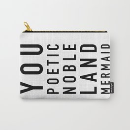 Poetic Noble Land Mermaid - Parks and Rec Carry-All Pouch