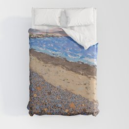 Seaside Popples with Lighthouse Duvet Cover