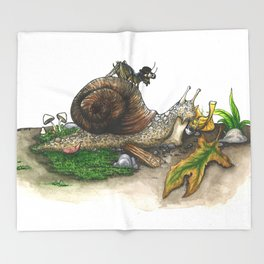 Little Worlds: Snail and Cricket Throw Blanket