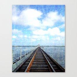 Track Through the Bay. Canvas Print