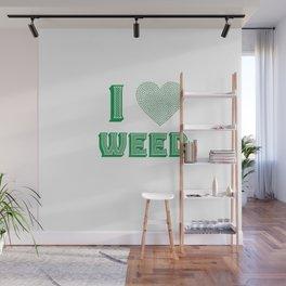 Weed Lover pot stoner Cannabis gift Wall Mural