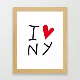 IloveNY Framed Art Print