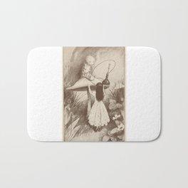 Alice in Wonderland With the Caterpillar Bath Mat