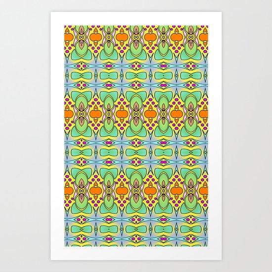 Bananas, Tangerines and Pistache! Art Print