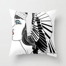 Queen of The Nile. Throw Pillow