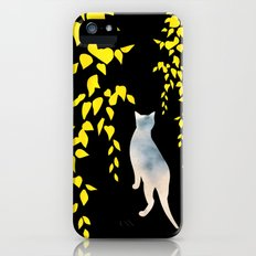 Japanese Cats Series - Yellow Leaves Slim Case iPhone (5, 5s)