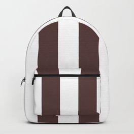 Dark Brown Granite and White Wide Vertical Cabana Tent Stripe Backpack