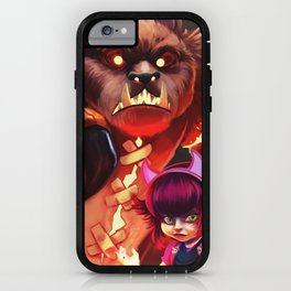 Bear and love iPhone Case
