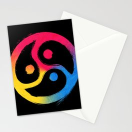 BDSM Triskelion Pansexual Pride Stationery Cards