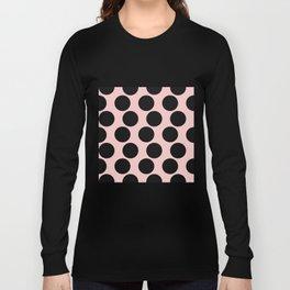 Millennial Pink Brown Dots Long Sleeve T-shirt