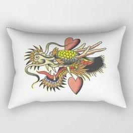 Traditional Dragon Tattoo Flash Rectangular Pillow