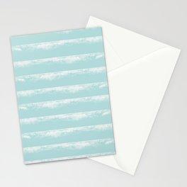 Irregular Stripes Mint Stationery Cards