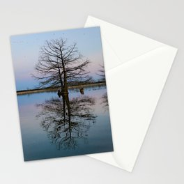 Tree Reflecting in Lake-I Stationery Cards