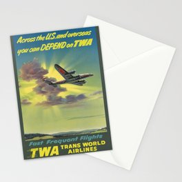 placard Fast Frequent Flights Stationery Cards