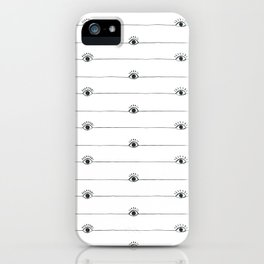 Eyeballs with half lashes iPhone Case