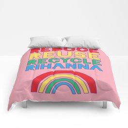 Reduce Reuse Recycle Rihanna Comforters