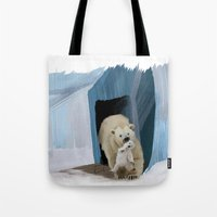 bears Tote Bags featuring Bears by Elena Napoli