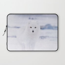 Artic Fox Eyes Laptop Sleeve