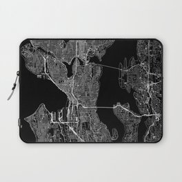 Seattle Black Map Laptop Sleeve