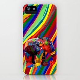 Full Color Abstract Elephant iPhone Case