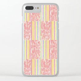 Candy Floral 4 Clear iPhone Case