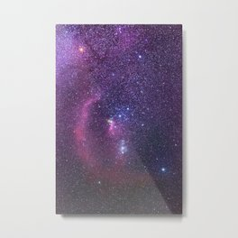 Constellation of Orion in real night sky Orion The Hun Metal Print