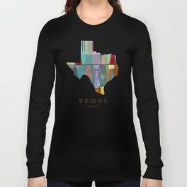 Texas state map modern Long Sleeve T-shirt