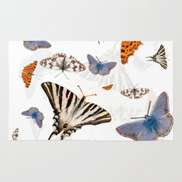 Colorful butterflies of europe Rug