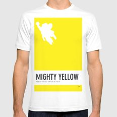 No02 My Minimal Color Code poster Mighty Mouse Mens Fitted Tee MEDIUM White